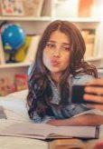 ywca teen using social media